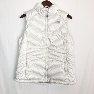 The North Face Size Large White Down Puffer Vest